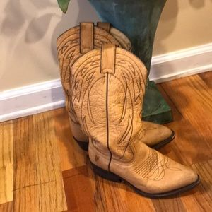 Beautiful Tan Frye Boots barely worn